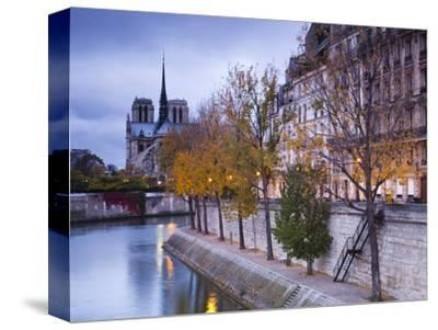 France, Paris, Cathedral Notre Dame Cathedral and Ile St-Louis, Dawn