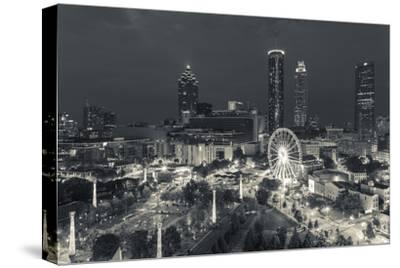 Georgia, Atlanta, Centennial Olympic Park, Elevated City View at Dusk