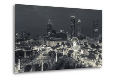 Georgia, Atlanta, Centennial Olympic Park, Elevated City View at Dusk