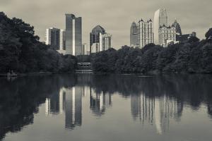 Georgia, Atlanta, City Skyline from Piedmont Park by Walter Bibikow