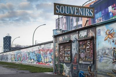 Germany, Berlin, Friendrichshain, East Side Gallery, Murals on the Berlin Wall, Souvenirs by Walter Bibikow