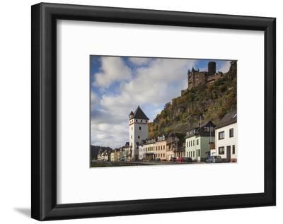 Germany, Rheinland-Pfalz, St. Goarshausen, Burg Katz Castle and Town
