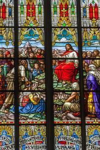 Germany, Rhineland-Pfalz, Speyer, Memorial Church, Interior View of Stained Glass Windows by Walter Bibikow