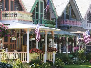 Gingerbread House, Oak Bluffs, Martha's Vineyard, Massachusetts, USA by Walter Bibikow