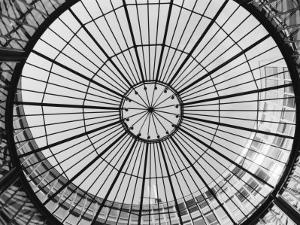 Glass Dome of the Stock Exchange Borse, Zurich, Switzerland by Walter Bibikow