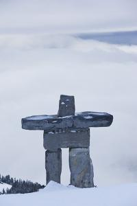 Gondola, Whistler to Blackcomb, Inuksuk First Nation Marker, British Columbia, Canada by Walter Bibikow