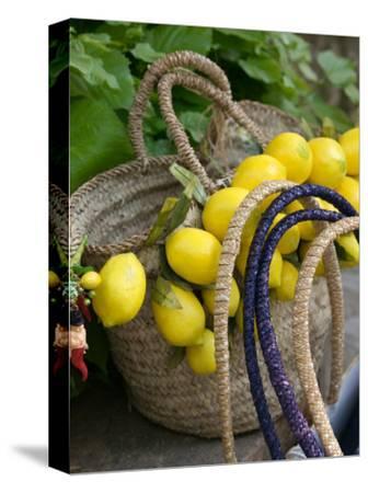 Handbag with Lemons, Positano, Amalfi Coast, Campania, Italy