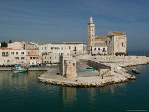 Harbor View of 13th Century Romanesque Duomo, Trani, Puglia, Italy by Walter Bibikow