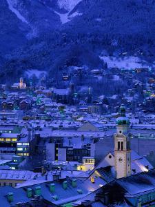 Innsbruck at Night, Austria by Walter Bibikow