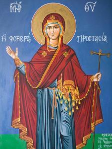 Interior Religious Paintings, Eleftherotria Monastery, Macherado, Zakynthos, Ionian Islands, Greece by Walter Bibikow