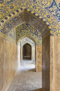 Iran, Esfahan, Naqsh-E Jahan Imam Square, Royal Mosque, Interior Mosaic by Walter Bibikow