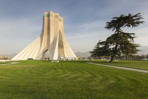 Iran, Tehran, Azadi Tower, Freedom Tower Monument by Walter Bibikow