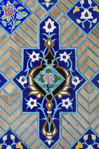 Iran, Tehran, Niyavaran Palace Complex, Palace Of The Last Shah, Tilework by Walter Bibikow