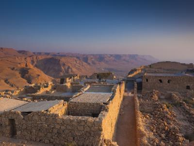 Israel, Dead Sea, Masada View of the Masada Plateau by Walter Bibikow