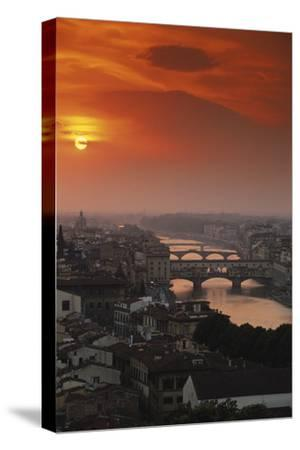 Italy, Florence, Tuscany. Central Florence at Sunset