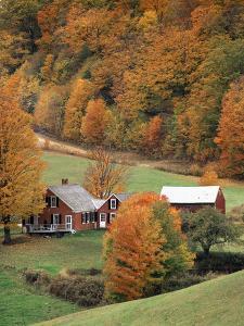 Jenne Farm in Autumn, Reading, Vermont, USA by Walter Bibikow