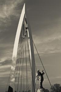 Keeper of the Plains Footbridge, Arkansas River, Wichita, Kansas, USA by Walter Bibikow