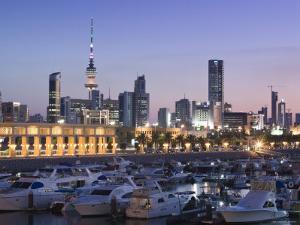 Kuwait City and Sharq Souk Marina, Kuwait by Walter Bibikow