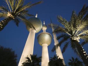 Kuwait Towers, Kuwait City, Kuwait by Walter Bibikow