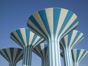 Kuwaiti Water Towers, Sideeq, Kuwait by Walter Bibikow