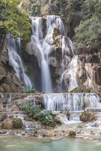 Laos, Luang Prabang. Tat Kuang Si Waterfall. by Walter Bibikow
