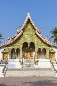 Laos, Luang Prabang. Wat Ho Pha Bang, Royal Palace. by Walter Bibikow