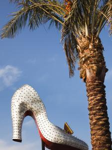 Las Vegas Boulevard, Old Sign for the Silver Slipper Casino, Downtown, Las Vegas, Nevada, Usa by Walter Bibikow