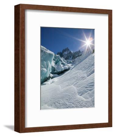 Le Montenvers, Winter Mer de Glace Glacier Ice Cave, Mont Blanc, France