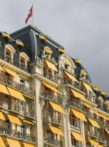 Le Montreux Place Hotel on Lake Geneva, Montreux, Swiss Riviera, Vaud, Switzerland by Walter Bibikow