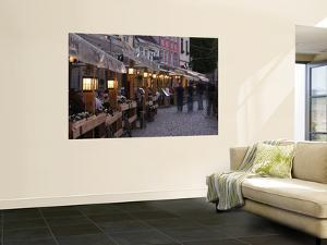 Livu Laukums Square Cafes, Old Riga, Vecriga, Latvia by Walter Bibikow