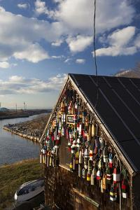 Lobster Buoys, Gloucester, Massachusetts, USA by Walter Bibikow
