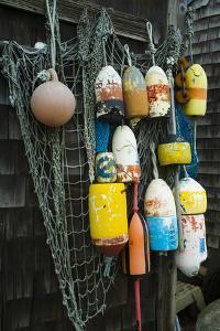 Lobster Buoys, Rockport, Massachusetts, USA by Walter Bibikow