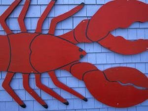 Lobster Sign, Fundy National Park, New Brunswick, Canada by Walter Bibikow