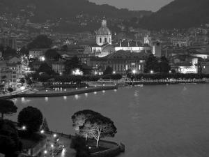 Lombardy, Lakes Region, Lake Como, Como, City View from Bellagio Road, Italy by Walter Bibikow