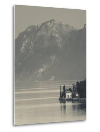 Lombardy, Lakes Region, Lake Como-Lake Lecco, Oliveto, Villa and Mountains, Italy