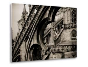 Lombardy, Milan, Piazza Duomo, Duomo Cathedral, Roof Detail, Italy by Walter Bibikow
