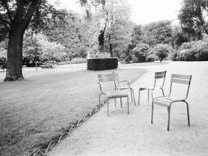 Luxembourg Gardens Statue of Liberty and Park Chairs, Paris, France by Walter Bibikow