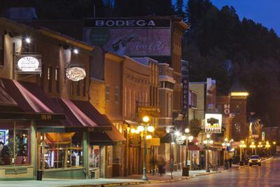 Main Street at Dusk, Deadwood, South Dakota, USA