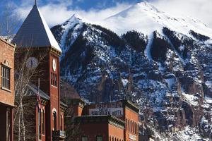 Main Street Buildings, Telluride, Colorado, USA by Walter Bibikow