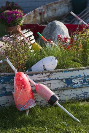 Maine, Bailey Island, Lobster Buoys