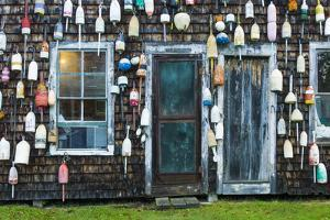 Maine, Pemaquid Point, Lobster Buoys by Walter Bibikow