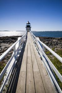 Maine, Port Clyde, Marshall Point Lighthouse by Walter Bibikow