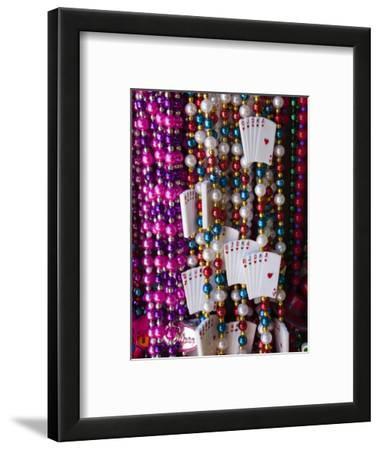Mardi Gras Beads, French Quarter, New Orleans, Louisiana, USA