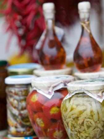 Marinated Vegetables, Positano, Amalfi Coast, Campania, Italy by Walter Bibikow