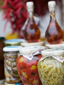 Marinated Vegetables, Positano, Amalfi Coast, Campania, Italy by Walter Bibikow