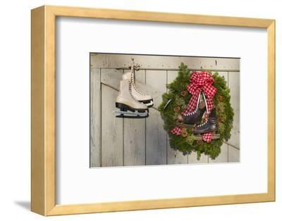 Massachusetts, Essex, Ice Skates and Christmas Wreath