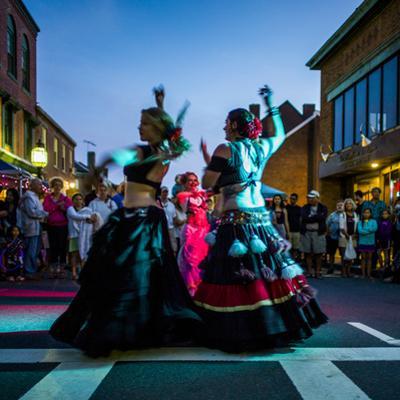Massachusetts, Gloucester Downtown Block Party, Belly Dancers