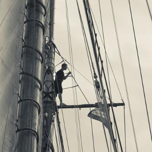 Massachusetts, Gloucester, Schooner Festival, Sailing Ship Lookout by Walter Bibikow