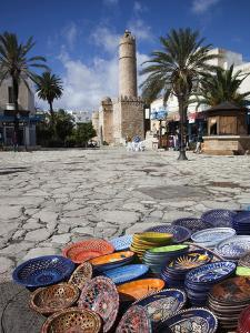 Medina Market by the Great Mosque, Sousse, Tunisia by Walter Bibikow