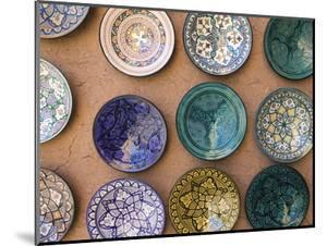Moroccan Plates, Ensemble Artisanat, Ouarzazate, South of the High Atlas, Morocco by Walter Bibikow